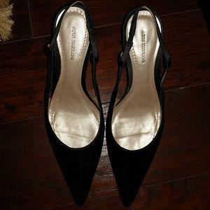 Ann Taylor black stiletto heels